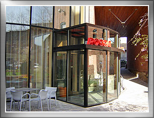 New Vestibule at an existing glass wall in Boston