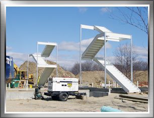 Perforated Access Stairs. Prefabricated ...