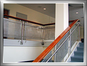 Stainless steel railing at Wheaton College