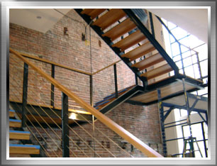 Stair Tread On Metal Fabrication Architectural Stairs Metal Stair Railings