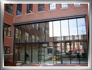 Vestibule entrance for a commercial building in Boston.